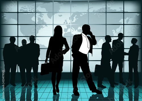 Business Cooperation - global business, concept background