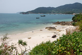 lonesome beach on Cham Island - Vietnam poster