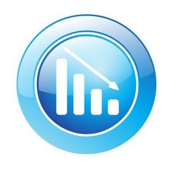 Button Chart blau