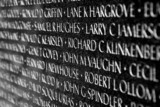 Vietnam war veterans memorial in Washington DC poster