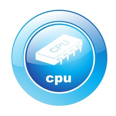 Button CPU blau