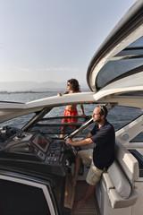 France, Corsica, the eastern coast of the island on a yacht