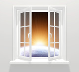 Window in other galaxy poster