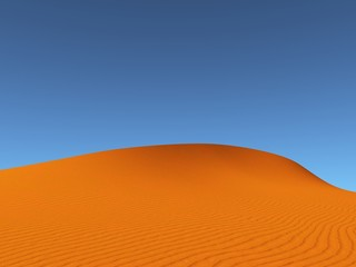 orange dune with blue sky