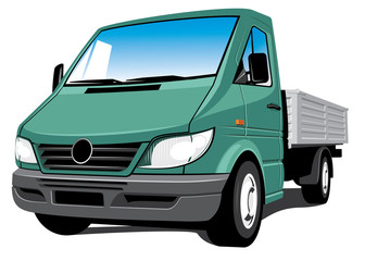 Vector isolated delivery, cargo truck