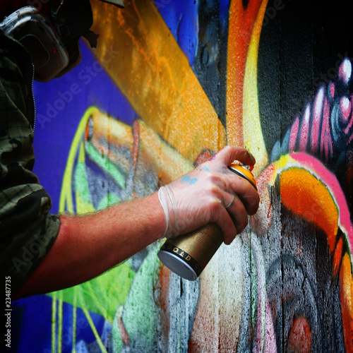 Leinwandbild Motiv Graffiti - modern way of art