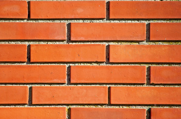 Modern red brick wall