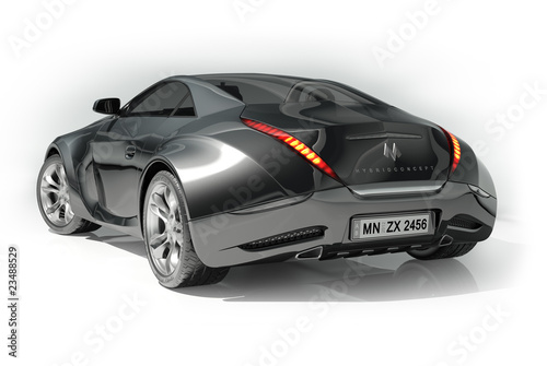 Sports car isolated on white background.