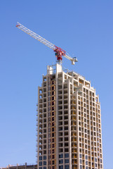 construction of modern highrise building
