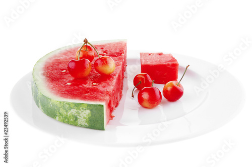 watermelon and cherry