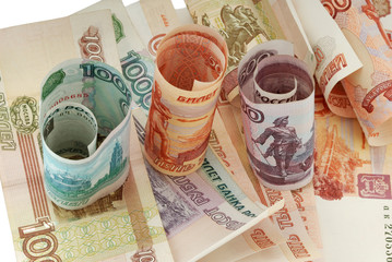 russian moneys, rouble, bank-paper, soft money