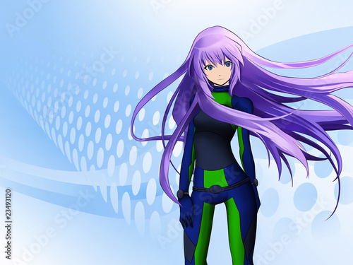 canvas print picture Futuristic anime girl