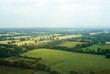 Birdseye view of English countryside