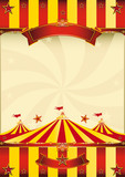 red and yellow Top circus poster poster