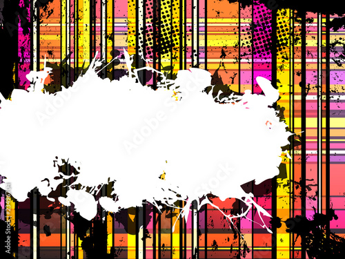 Checkered Yellow and Orange Grunge Background.