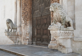 Cathedral's Portal of Altamura. Apulia.