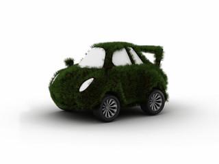 eco car isolated on white background