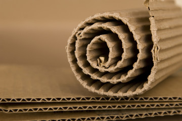 spiral made from cardboard