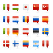 world flags as bookmarks icons vector