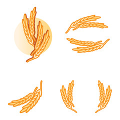 wheat pasta products logo elements vector