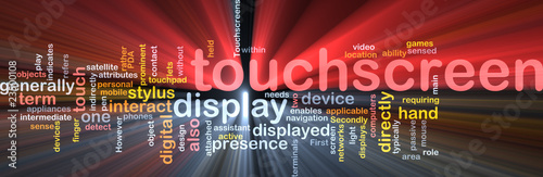 Touchscreen word cloud box package