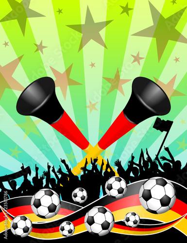 plakat fussball(feld) deutschland XVII - 23501786