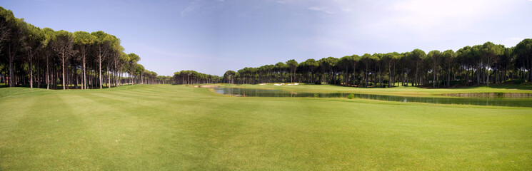 panorama of golf club