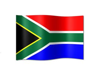 Südafrika Fahne
