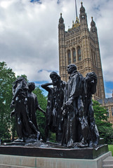 Burghers of Calais Sculpture  at  Westminster