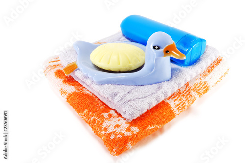 Towel and soap