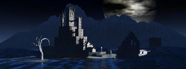 Burg und Ruine