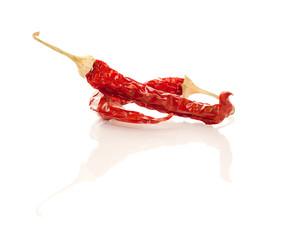 Trockene rote Pepperoni