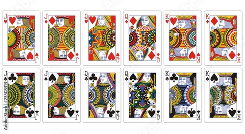 Poker Cards King Queen Playing Cards Jack Queen King
