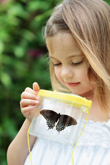 Child Capturing Butterflies