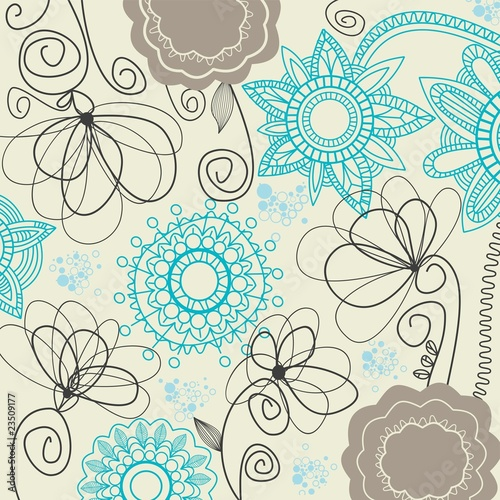 Retro floral background © Danussa