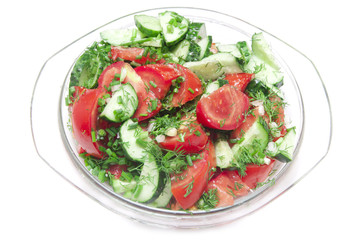 salad made of fresh tomatoes