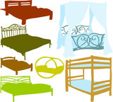 Set of a various beds
