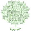 COPYRIGHT. Word cloud concept illustration.
