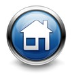 Blue home icon/button