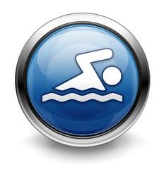 Blue swimming icon/logo