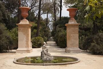 Fountain in the botanical garden of Palermo