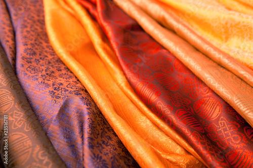 Leinwandbild Motiv Indian scarves