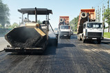 Asphalt pavement works and machinery poster