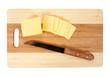 heese on an cutting board