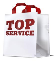 einkaufstüte top service