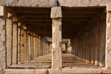 Stone walkway - Hampi, India