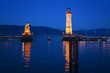 Lake Constance, Lindau harbor entrance and lighthouse