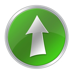 Green up arrow icon
