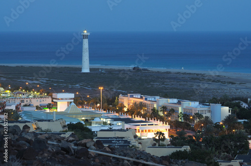 Coast at Jandia Playa at night. Canary Island Fuerteventura