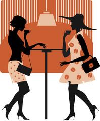 Ladies at cafe